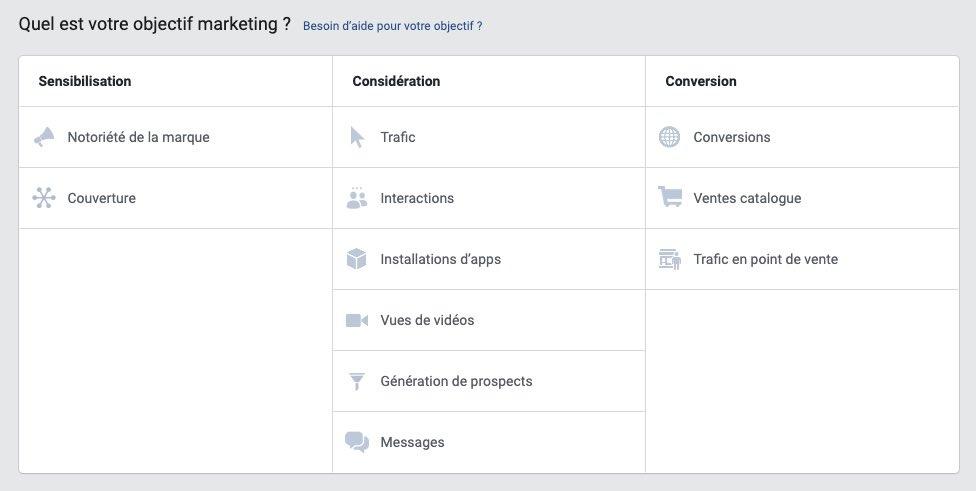 objectif facebook ads conversion trafic notoriété agence instagram linkedin consultant nantes pixel google ads display rtb