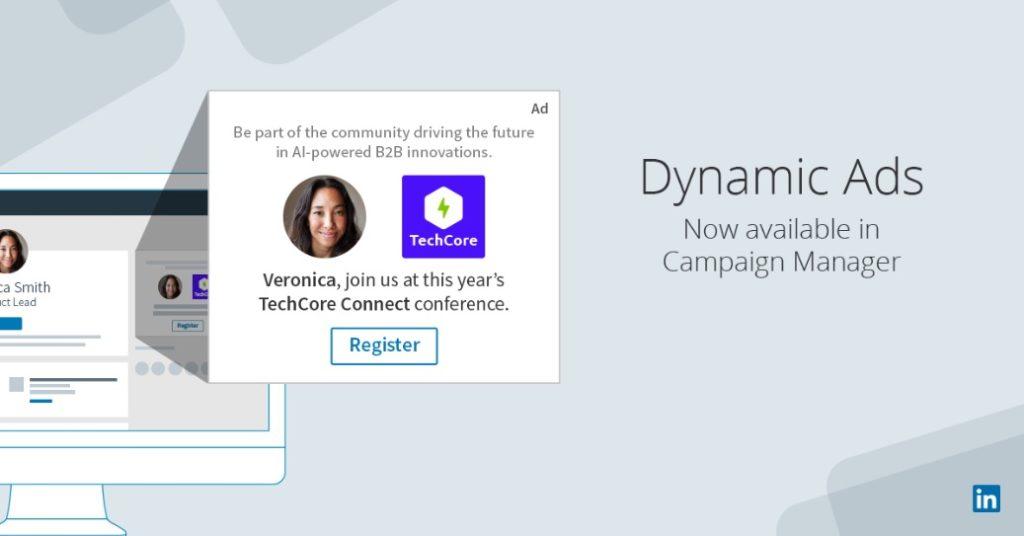 dynamics ads format publicité linkedin ads agence paris réseaux sociaux