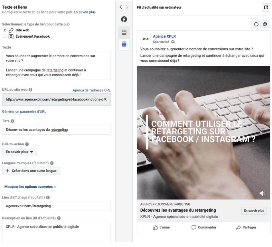 agence facebook ads consulting expert instagram linkedin twitter nantes paris rennes google pixel audience network conseil consultant comment ecrire une publicité digitale stratégie acquisition